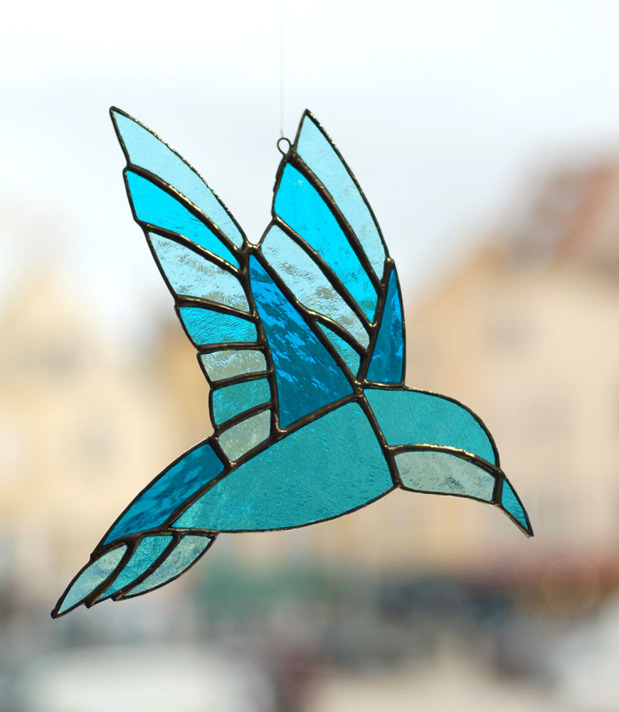 Atelier vitrail oiseaux et tiffany